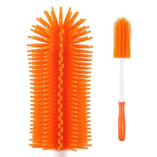 Silicone stick bottle brush Orange