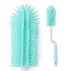 Silicone rotate bottle brush mint