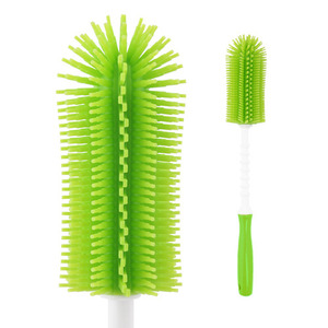 Silicone stick bottle brush Green