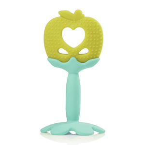Apple Silicone Teether green